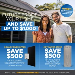 Save up to $1,000 when you future-proof your home with solar from Solahart