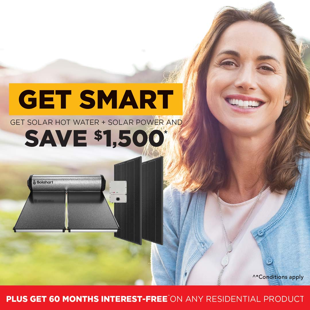 Get Smart With Solahart and save $1500